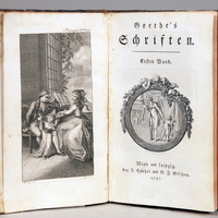 Goethe, Johann Wolfgang: Goethe's Schriften. 1. Band.