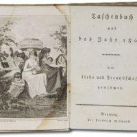 Taschenbuch der Liebe und Freundschaft gewidmet  [=  Taschenbuch für das Jahr [1802-1834]. Der Liebe und Freundschaft gewidmet. [1802 Hrsg. Johanna Karoline Wilhelmine Spazier.] Hrsg. Dr. St.[ephan] Schütze.]
