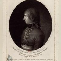 """""""<a href=""""https://gallica.bnf.fr/ark:/12148/btv1b69535746.r=Ramberg?rk=214593;2"""">Giovanni Paradisi</a> : membro del Direttorio esecutivo della Republica cisalpina, nato a Reggio li. 19 novembre 1760"""" (Einzelstich)"""