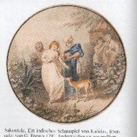[Kalidas]: Sakontala oder der entscheidende Ring. Ein indisches Schauspiel von Kalidas. Aus den Ursprachen Sanskrit und Prakrit ins Englische und aus diesem ins Deutsche übersetzt mit Erläuterungen von Georg Forster.