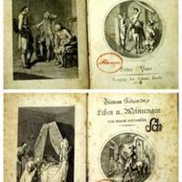 Sterne, Laurence: Tristram Schandy's Leben und Meinungen. Von Neuem verdeutscht [von J. L. Benzler].  Bd. 1 [von3]. Mit einem Kupfer nach Ramberg. Neue unveränderte wohlfeile Ausgabe. [noch nicht ermittelt, Bd. 2-3 prüfen]
