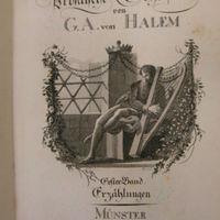 Halem, Gerhard Anton [Ludwig Wilhelm Christian] von [Pseud. Visurgin]:  Kleine prosaische Schriften. 1. Band.<br /><br />