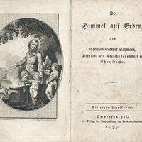 Salzmann, Christian Gotthilf: Der Himmel auf Erden. Mit einem Titelkupfer. 2. verb. Aufl.