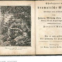 Sechzehn Titelkupfer zu Shakespear's dramatischen Werken übersetzt und erläutert von J. W[ilhelm] O[tto] Benda in 16 [recte 19] Bänden [bei Göschen, 1825].